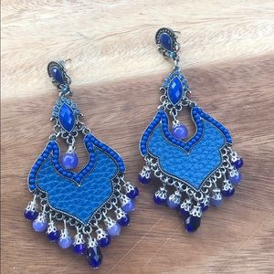 Jewelry - Blue statement earrings!